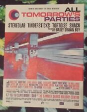 All tomorrow's parties Stereolab  1999 press advert Full page 29 x 37 cm poster