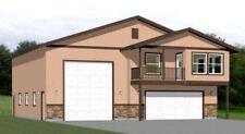 44x48 Apartment with 2-Car 1-RV Garage - PDF FloorPlan - 1,648 sqft - Model 1B