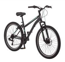 Schwinn Sidewinder Women Mountain Bike, 26-inch Wheels, 21 Speed, Black/Green