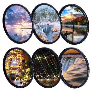 UV CPL variable ND to ND400 ND1000 filter Star Filter 49mm 52mm 58mm 67mm 77mm