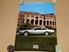 Nice rare 1986 Ferrari 412i Side View Factory Poster # 365/85 OEM