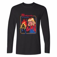 Pyrokinesis Printed Men's Cotton Long Sleeve Casual Crew Neck T-Shirt tops