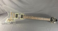 Clear Acrylic/Lucite Flying V Electric Guitar By KTone Dual humbucker pickups!!!