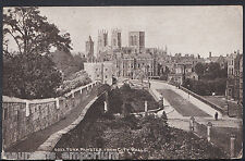 Yorkshire Postcard - York Minster From City Walls    RT1286