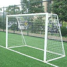 Durable 10x6.5ft Full Football Goal Post Net Sports Match Training Junior KZ