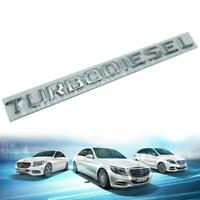 Badge Emblem Logo TURBODIESEL Chrome Trim For All Mercedes Benz C E S Class