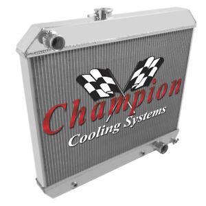 4 Row Discount Champion Radiator for 1964 1965 Pontiac GTO V8 Engine #MC1678