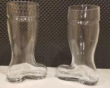 New listing Set of 2 Glass Beer Boots 1.4 Liter Each Das Boot Oktoberfest