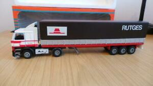 HB36: Early Tekno 1:50 Scale Scania Rutges Truck & Trailer - VGC / Boxed