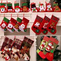 Christmas Stocking Santa Claus Gift Socks Candy Bag Xmas Tree Hanging Ornaments
