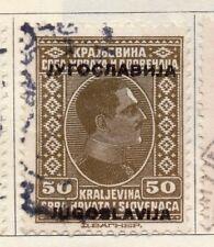 JUGOSLAVIA 1933 Early problema fine utilizzato 50p. Optd 106058