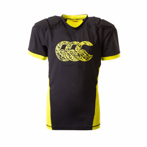 Canterbury Rugby Kids Raze Protective Body Armour - Black/Yellow - New