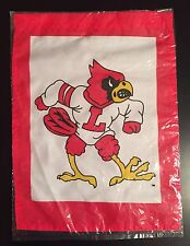 UNIVERSITY OF LOUISVILLE UL CARDINALS BASKETBALL MINI WINDOW GARDEN YARD FLAG N