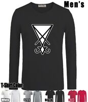 Fashion Lucifer Design Long Short Sleeves Men's Boy's T-Shirt Graphic Tee