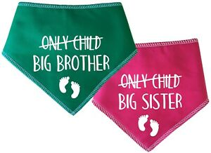 Spoilt Rotten Pets Only Child NOW Big Brother / Sister Dog Bandana Gender Reveal