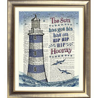 DICTIONARY ART PRINT ON BOOK PAGE LIGHTHOUSE Picture Nautical Seaside sea Quote