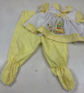Vintage 1960s Baby Toddler Girls/' Yellow Cute as a Kitten Dress 6 9 12 Months