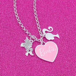 Barbie® Pink Heart & Unicorn Charm Necklace