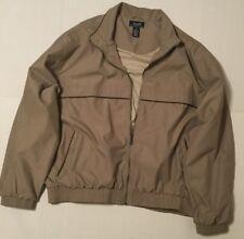 ROUNDTREE & YORKE SPORT Beige Lined Full Zip Jacket XL