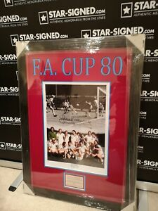 Sir Trevor Brooking - West Ham 1980 FA Cup goal framed picture with AFTAL COA