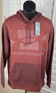 Under Armour Coldgear Red Sportstyle Terry Hoodie 1357102-688, Men's Médium, NWT