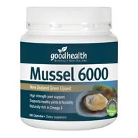 Good Health New Zealand Green Lipped Mussel 6000 Capsules 300