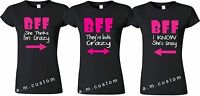 BFF shirt Best Friend Triple Matching Friends shirts cute S-4XL