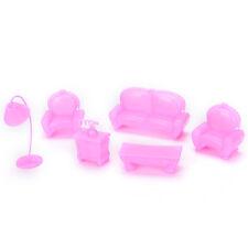 Children Toys Case for Barbie Dream House Mini Furniture Sofa Set Accessories OZ