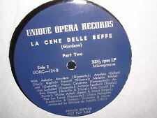 La Cene Delle Beffe UORC - 124 Unique Opera Records