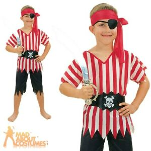 Child Budget Pirate Boy Costume Caribbean Book Week Day Fancy Dress Outfit New