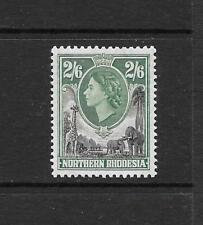 1953 Queen Elizabeth II SG71 2s.6d. Black & Green Mint Hinged  NORTHERN RHODESIA