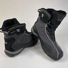 Salomon Gore-Tex Hiking Boots Contagrip Quick Lace Winter Trail Black Gray 13