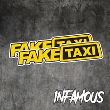FAKE TAXI Sticker Decals Funny JDM Drift Turbo Hoon Race Car