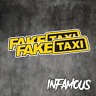 FAKE TAXI Sticker Decals Funny JDM Drift Turbo Hoon Race Car
