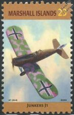 WWI JUNKERS J-1 Blechesel (Tin Donkey) German Aircraft Stamp (Marshall Islands)