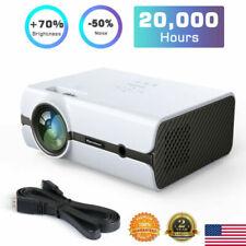5000 Lumen Video Projector LED 1000:1 HD 1080p Home Theater HDMI USB VGA AV ATV