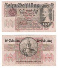 More details for austria 10 schilling banknote (1946) p.122 - vf.
