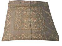 Vintage Liz Claiborne Scarf 100% Silk Floral Victorian Colors Large Country Chic