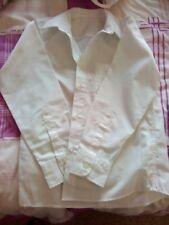 3 Boy's White Long Sleeve Shirts, Aged 8, From Tu