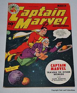 Captain Marvel Adventures 44 Golden Age Fawcett Comic Book 1945 VF+