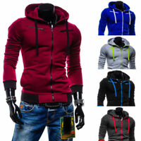 Mens Hoodie Coat Jacket Winter Warm Hooded Sweatshirt Outwear Jumper Sweater New