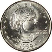 1999 D $1 Susan B Anthony SBA Dollar Coin BU Uncirculated Mint State