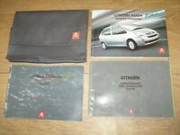 CITROEN XSARA PICASSO OWNERS MANUAL HANDBOOK PACK  2004 - 2010 FREE UK POSTAGE