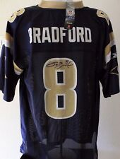 Sam Bradford St Louis Rams Oklahoma Autographed Size L Signed NFL Jersey JSA COA