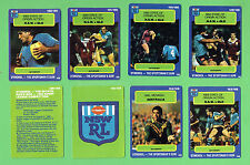 1990 RUGBY LEAGUE CARDS #149 to #156, STATE OF ORIGIN etc