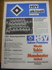 02/08/1976 Hamburg v Manchester United [Friendly] & Reserves v Hitachi Tokyo [Fr