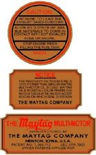 NEW MAYTAG 3 PIECE ENGINE VINYL STICKER SET (A077)