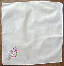 Girl Scout LAST HANKIE ISSUED Embroidered Trefoil Logo 1970s Collector LEADER