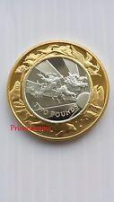 1999-2000 FALKLAND ISLANDS MILLENNIUM GOLD SILVER PROOF £2 TWO POUND