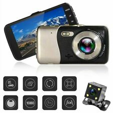"""4"""" In Car Camera Recorder Dual Front and Rear HD 1080p Dash Cam Night Vision UK"""